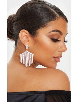 Gold Diamante Chandelier Earrings by Prettylittlething