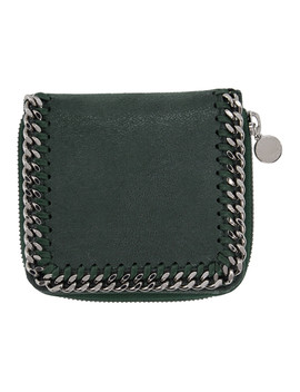 Green Small Zip Falabella Wallet by Stella Mccartney