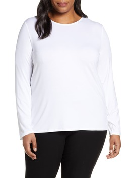 Long Sleeve Crewneck Top by Eileen Fisher