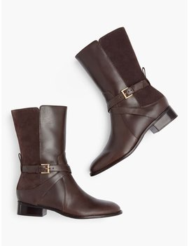 Tish Wrap Buckle Boots by Talbots