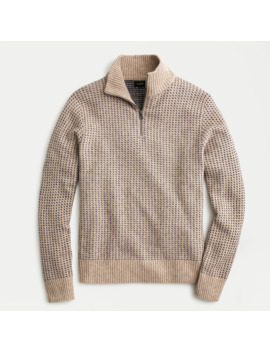 Rugged Merino Birdseye Half Zip Sweater by J.Crew