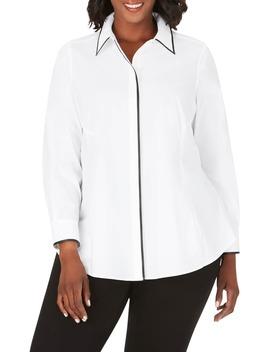Cici Stretch Tunic Shirt by Foxcroft