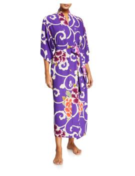 Samarkand Floral Print Robe by Natori