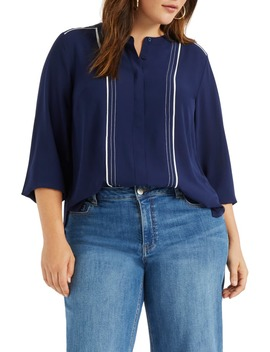 Band Collar Blouse by Eloquii