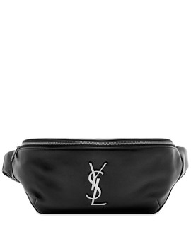 Saint Laurent Ysl Metal Logo Leather Waist Bag by Saint Laurent