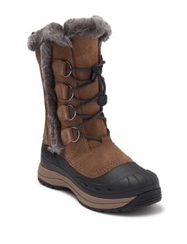 Chloe Faux Fur Lined Waterproof Suede Snow Boot by Baffin