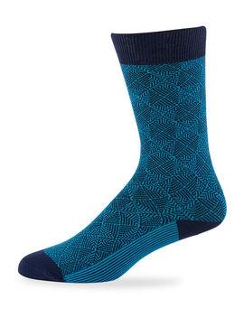 Men's Hutton Jacquard Knit Socks by Ace & Everett