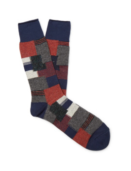 Patchwork Jacquard Socks by Anonymous Ism
