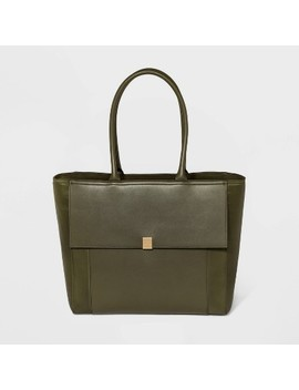 Zip Closure Work Tote Handbag   A New Day™ by A New Day