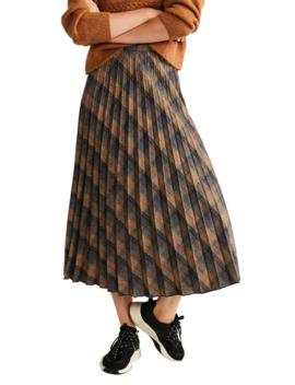 Printed Pleated Midi Skirt by Mango