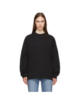 Black Dry French Terry Logo Sweatshirt by Alexanderwang.T