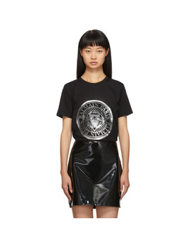 Black Coin T Shirt by Balmain