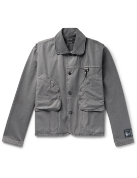 Corduroy Trimmed Cotton Twill Jacket by Reese Cooper®