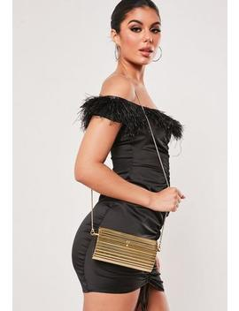 Gold Hard Case Cross Body Bag by Missguided