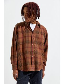 Urban Renewal Vintage Overdyed Flannel Button Down Shirt by Urban Renewal