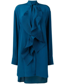 Pleated Scarf Shirt Dress by Givenchy
