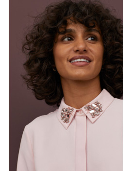 Blouse With Sparkly Stones by H&M