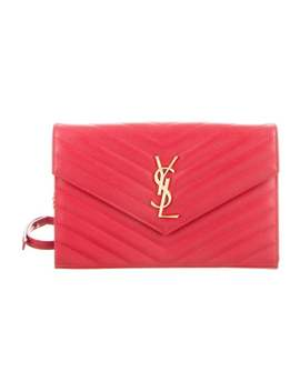 Monogram Wallet On Chain Leather Crossbody by Saint Laurent