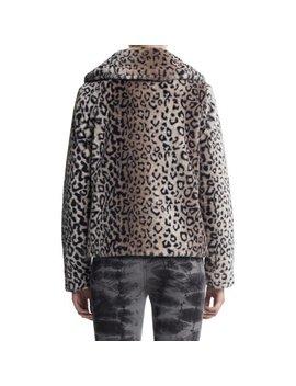 Scoop Faux Fur Leopard Print Jacket Women's by Scoop