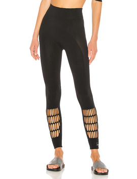 Warp Knit Tight In Black by Adidas By Stella Mc Cartney