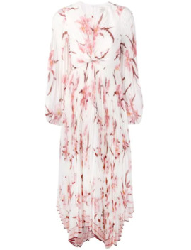 Pleated Twist Front Dress by Zimmermann