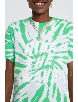 Uo Ride The Wave Tie Dye T Shirt by Urban Outfitters