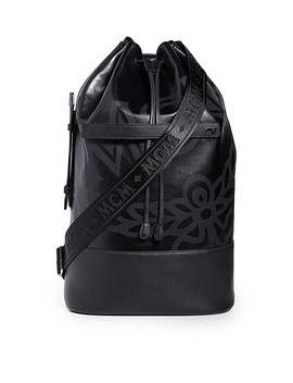 Max Coated Canvas Large Backpack by Mcm