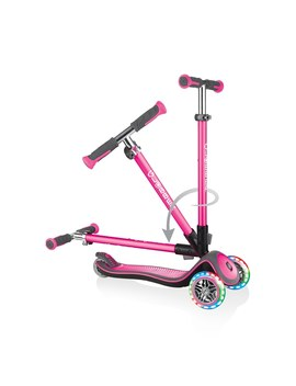 Globber Elite Deluxe Lights Deep Pink Scooter by Smyths