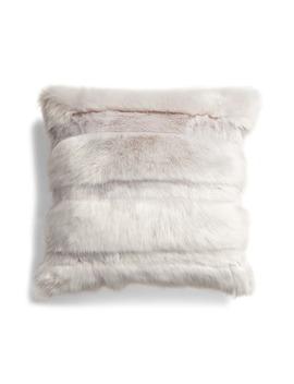 Stripe Faux Fur Accent Pillow by Rachel Parcell