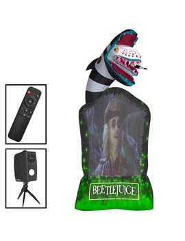 9 Ft. Inflatable Living Projection Beetlejuice Tombstone Wb Airblown by Home Depot