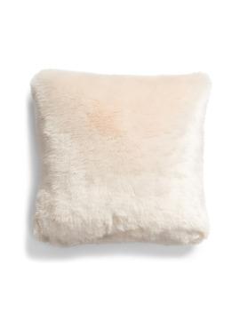 Frost Faux Fur Accent Pillow by Rachel Parcell