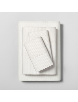 Sheet Set Organic Printed Microstripe   Hearth & Hand™ With Magnolia by Shop Collections