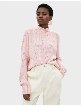 Sweater De Malha Jaspeada Malha   Bershka Portugal by Bershka