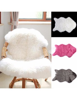 60x40cm Super Soft Faux Sheepskin Washable Carpet Warm Hairy Seat Pad Fluffy Rugs Faux Fur Mats For Floor Chairs Sofas Cushions by Ali Express.Com