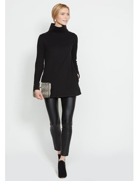 Black Cobble Hill Turtleneck by Dudley Stephens