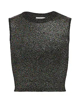 Mariam Lurex Cropped Top by A.L.C.