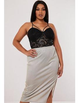 Plus Size Black Harness Lace Bodysuit by Missguided