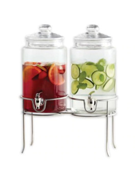 Dailyware® Twin Beverage Dispenser With Metal Rack by Bed Bath And Beyond