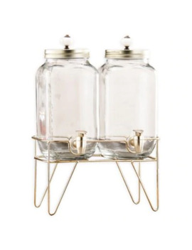 Style Setter Julian Set Of 2 Beverage Dispensers In Clear With Stand by Bed Bath And Beyond
