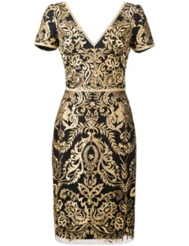 Baroque Print Mini Dress by Marchesa Notte
