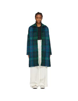 Blue & Green Cocoon Coat by Ymc