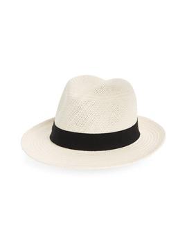 Straw Panama Hat by Halogen