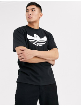 Adidas Skateboarding Shmoo Logo T Shirt In Black by Adidas