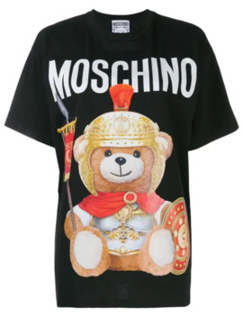 Teddy Gladiator Print T Shirt by Moschino