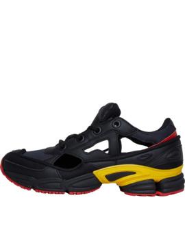 Adidas Originals X Raf Simons Mens Replicant Ozweego Trainers Core Black/Bold Gold/Night Grey by Adidas Originals