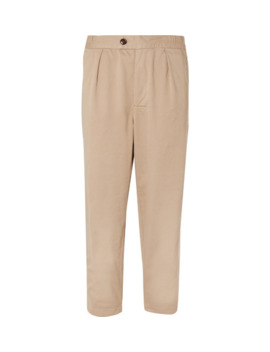 White Label Tapered Cotton Twill Drawstring Trousers by Barbour White Label