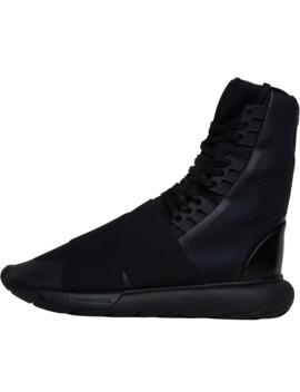 Y 3 Mens Qasa Boots Core Black/Core Black/Core Black by Y 3