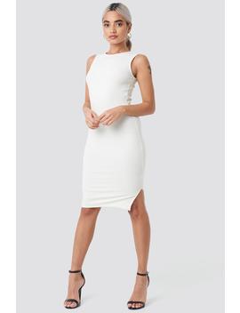 Ribbed Jersey Dress White by Na Kd
