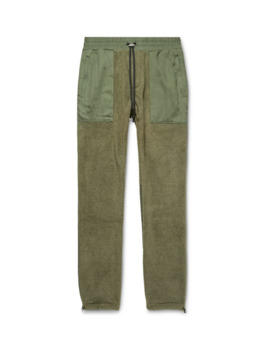 Slim Fit Tencel Panelled Fleece Drawstring Trousers by Amiri