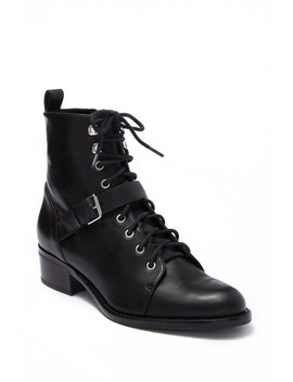 Cyra Leather Lace Up Boot by Via Spiga